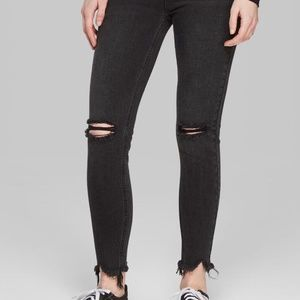 New Wild Fable High Rise Faded Black Skinny Jeans
